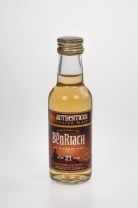 "74. Autenthicus Peated BenRiach ""21"" Single Speyside Malt Scotch Whisky"